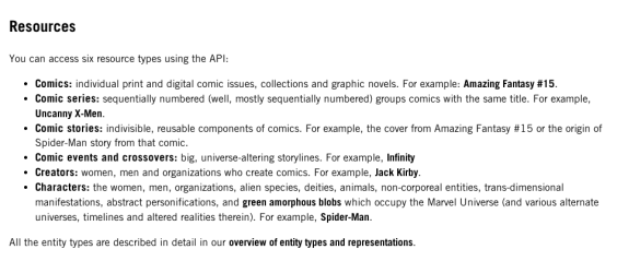 Marvel Comics API Resources